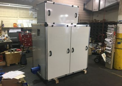 Off-white painted PD blower noise enclosure