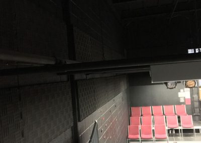 Black Pinta panels for school theater room